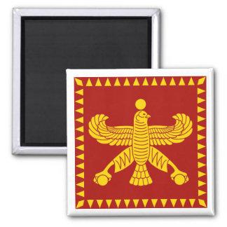 Cyrus la gran bandera estándar imán cuadrado