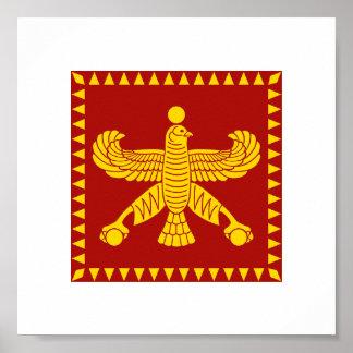 Cyrus la gran bandera estándar poster