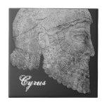 "Cyrus The Great Ceramic Tile<br><div class=""desc"">Cyrus founder of the Achaemenid Empire.</div>"