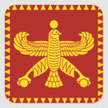 Cyrus the Great Standard Flag Square Stickers