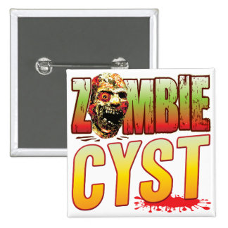 Cyst Zombie Head Badges