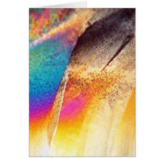 Cystein Amino Acid under the Microscope Greeting Card