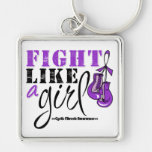 Cystic Fibrosis Awareness Fight Like a Girl Keychains