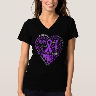 Cystic Fibrosis Awareness Heart Words Shirt