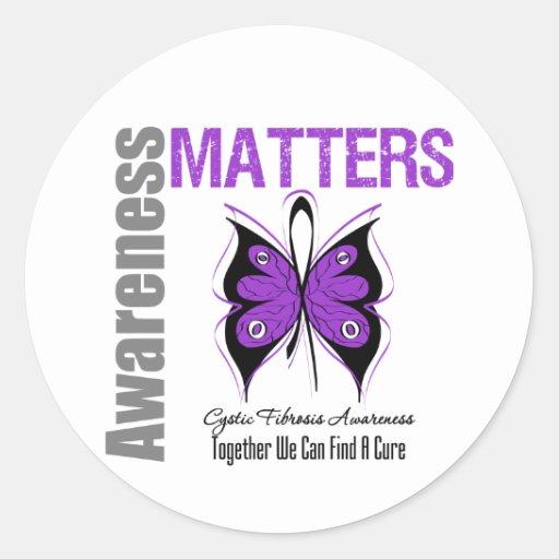 Cystic Fibrosis Awareness Matters Stickers
