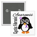 Cystic Fibrosis Awareness Penguin Pin
