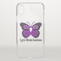 Cystic Fibrosis Awareness with Butterfly iPhone X Case