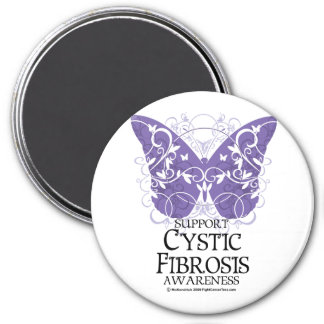 Cystic Fibrosis Butterfly 3 Inch Round Magnet