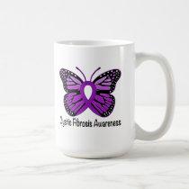 Cystic Fibrosis Butterfly Awareness Ribbon Coffee Mug