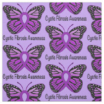Cystic Fibrosis Butterfly Awareness Ribbon Fabric