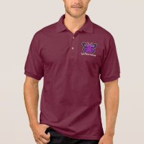 Cystic Fibrosis Butterfly Awareness Ribbon Polo Shirt