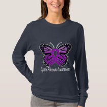 Cystic Fibrosis Butterfly Awareness Ribbon T-Shirt