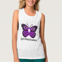 Cystic Fibrosis Butterfly Awareness Ribbon Tank Top
