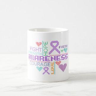 Cystic Fibrosis Colorful Slogans Classic White Coffee Mug