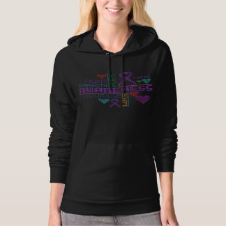 Cystic Fibrosis Colorful Slogans Hoodie