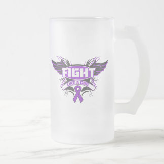 Cystic Fibrosis Fight Like a Girl Wings png Mugs