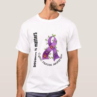 Cystic Fibrosis Flower Ribbon 3 T-Shirt