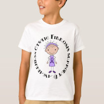 Cystic Fibrosis Gift Idea Purple Ribbon T-Shirt