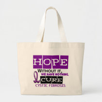 Cystic Fibrosis HOPE 2 Large Tote Bag