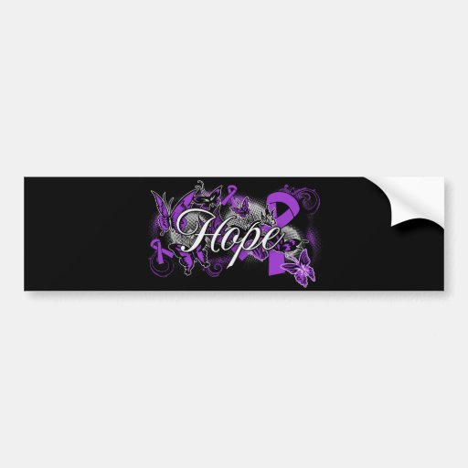 Cystic Fibrosis Hope Garden Ribbon Car Bumper Sticker