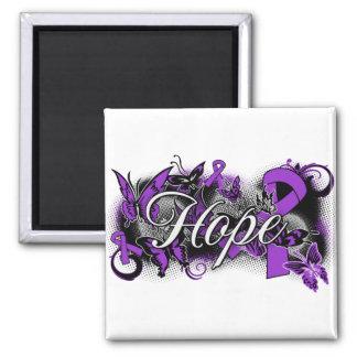 Cystic Fibrosis Hope Garden Ribbon Refrigerator Magnet