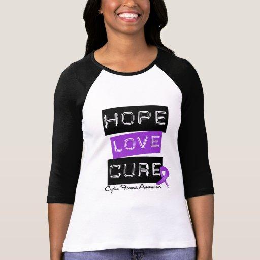Cystic Fibrosis Hope Love Cure T Shirt