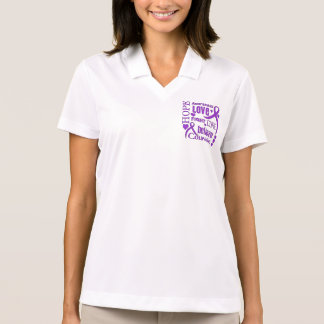 Cystic Fibrosis Hope Words Collage Polo Shirt