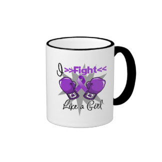 Cystic Fibrosis I Fight Like a Girl With Gloves Coffee Mugs