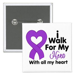Cystic Fibrosis I Walk For My Hero Button