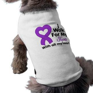 Cystic Fibrosis I Walk For My Hero Dog T-shirt