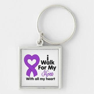 Cystic Fibrosis I Walk For My Hero Key Chain