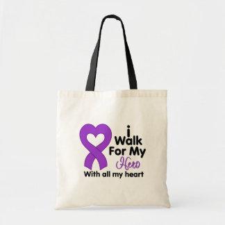Cystic Fibrosis I Walk For My Hero Tote Bags