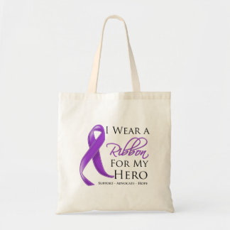 Cystic Fibrosis I Wear a Ribbon For My Hero Tote Bag