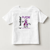 Cystic Fibrosis I Wear Purple For My Aunt 43 Toddler T-shirt