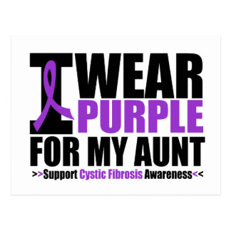 Cystic Fibrosis I Wear Purple For My Aunt Postcard