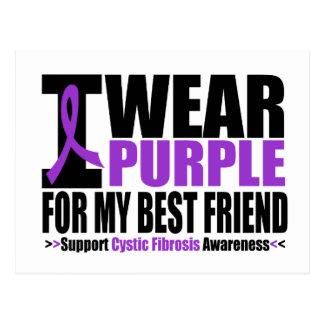 Cystic Fibrosis I Wear Purple For My Best Friend Postcard