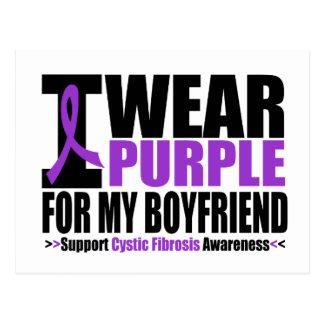 Cystic Fibrosis I Wear Purple For My Boyfriend Postcard
