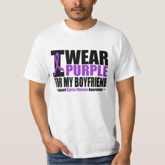 Cystic Fibrosis I Wear Purple For My Boyfriend T-shirt