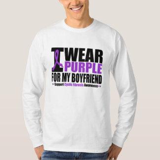 Cystic Fibrosis I Wear Purple For My Boyfriend T-shirts