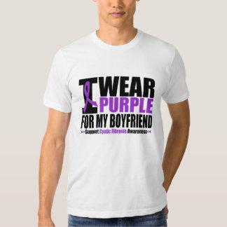 Cystic Fibrosis I Wear Purple For My Boyfriend T Shirts