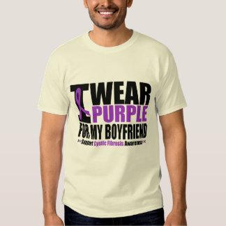 Cystic Fibrosis I Wear Purple For My Boyfriend Tshirt