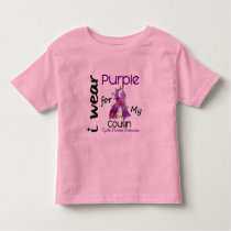 Cystic Fibrosis I Wear Purple For My Cousin 43 Toddler T-shirt