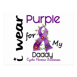 Cystic Fibrosis I Wear Purple For My Daddy 43 Post Card