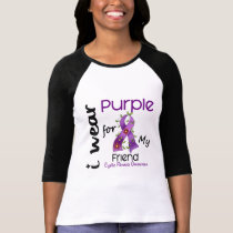 Cystic Fibrosis I Wear Purple For My Friend 43 T-Shirt