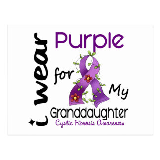 Cystic Fibrosis I Wear Purple For My Granddaughter Postcard