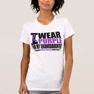 Cystic Fibrosis I Wear Purple For My Granddaughter Tshirts