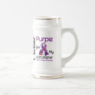 Cystic Fibrosis I Wear Purple For My Grandfather 4 Coffee Mugs