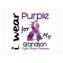 Cystic Fibrosis I Wear Purple For My Grandson 43 Postcard