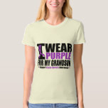 Cystic Fibrosis I Wear Purple For My Grandson Tee Shirts