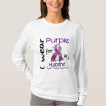 Cystic Fibrosis I Wear Purple For My Husband 43 T-Shirt